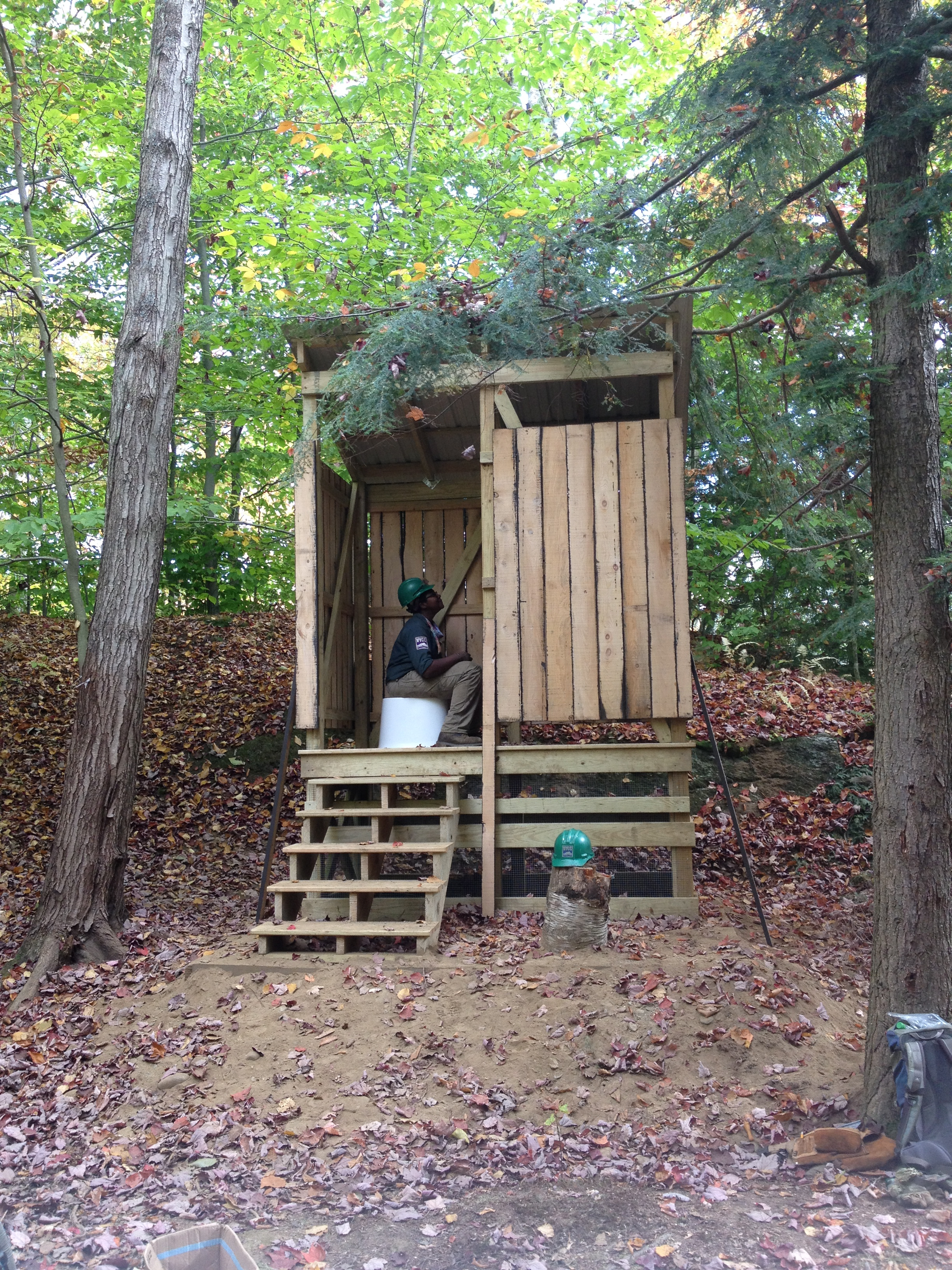 One of over a dozen composting toilets on remote campsites at Little River State Park, Vermont.