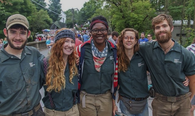 6 month Americorps crew in Warren, Vermont on July 4th, 2014.
