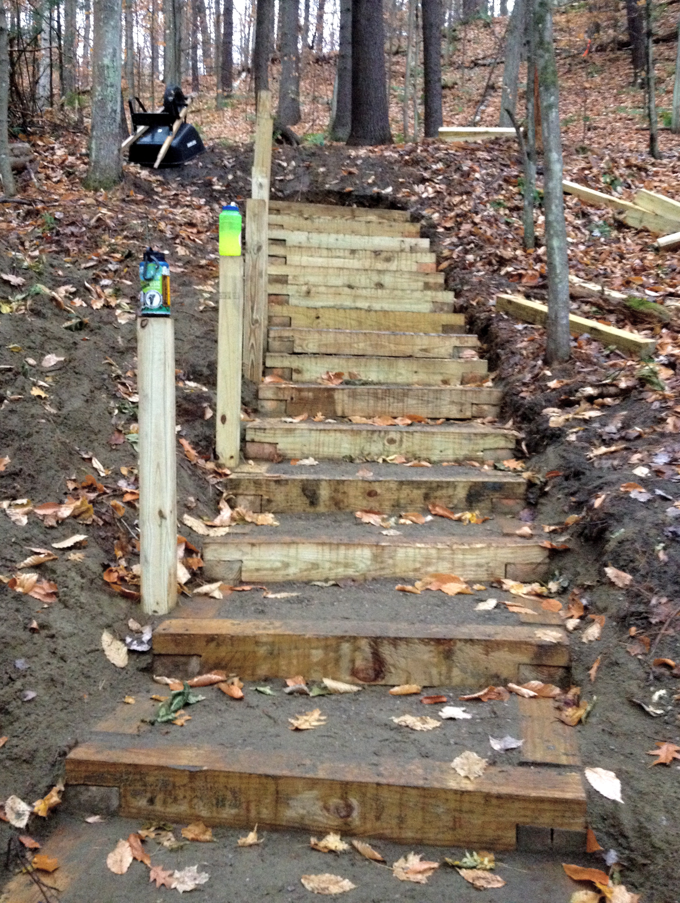 Over 80 crib steps at Niquette Bay State Park in Vermont.