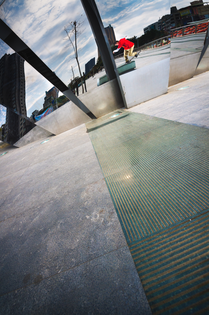 Chico Brenes - Backside 180 Nosegrind - Taichung Taiwan print