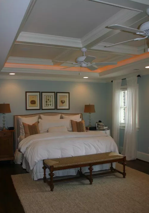 Master Suite Renovation with High Ceilings -