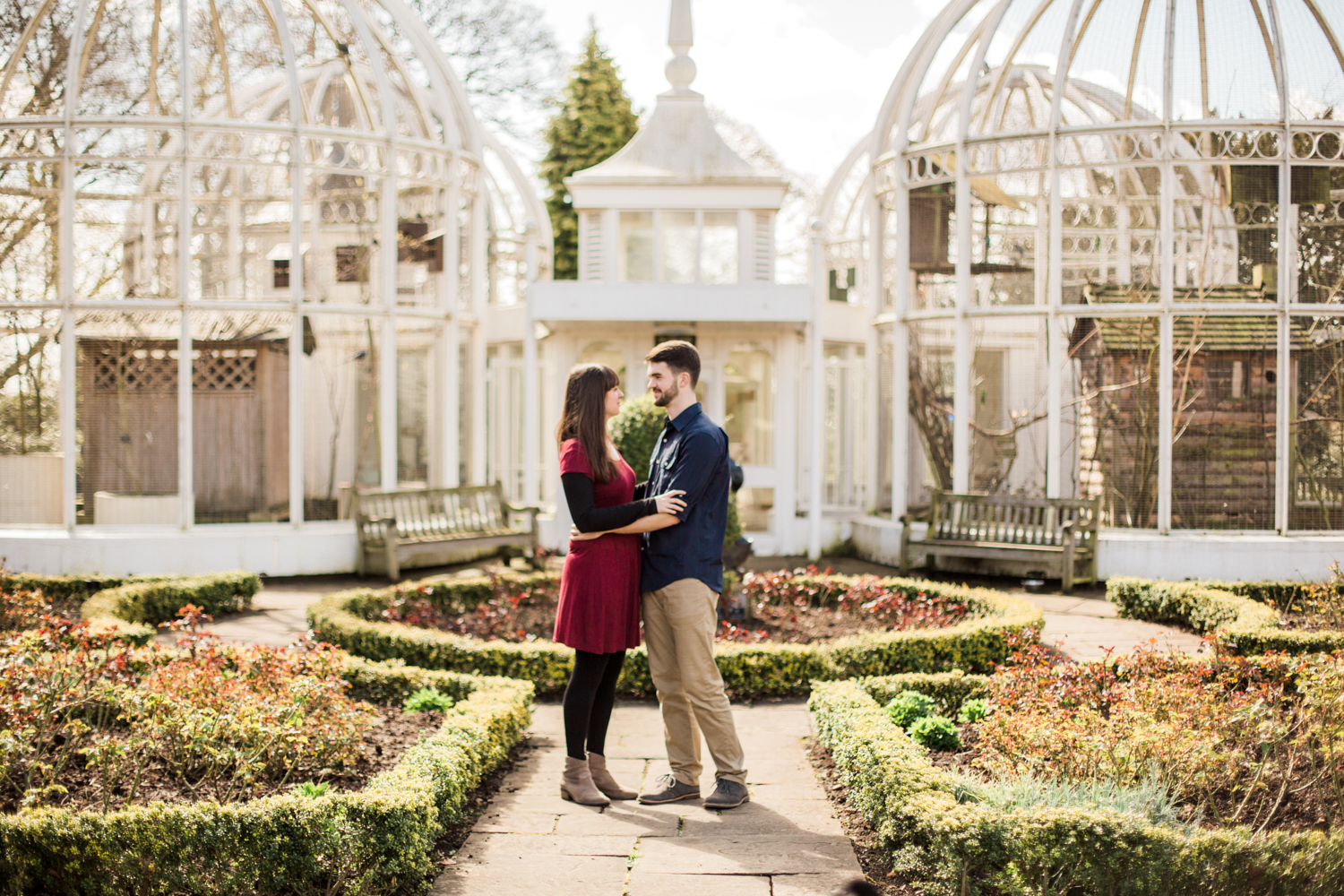 Sophie Evans Photography, Alice & Nathanael Botanical Gardens Engagement Shoot. Warwickshire Wedding Photographer (12).jpg