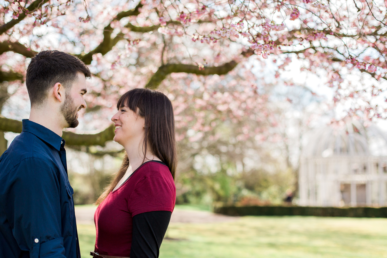 Sophie Evans Photography, Alice & Nathanael Botanical Gardens Engagement Shoot. Warwickshire Wedding Photographer (4).jpg