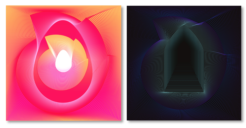 "Birth / Death  • 36"" x 36"" Giclee Print • Versions VII - VIII"