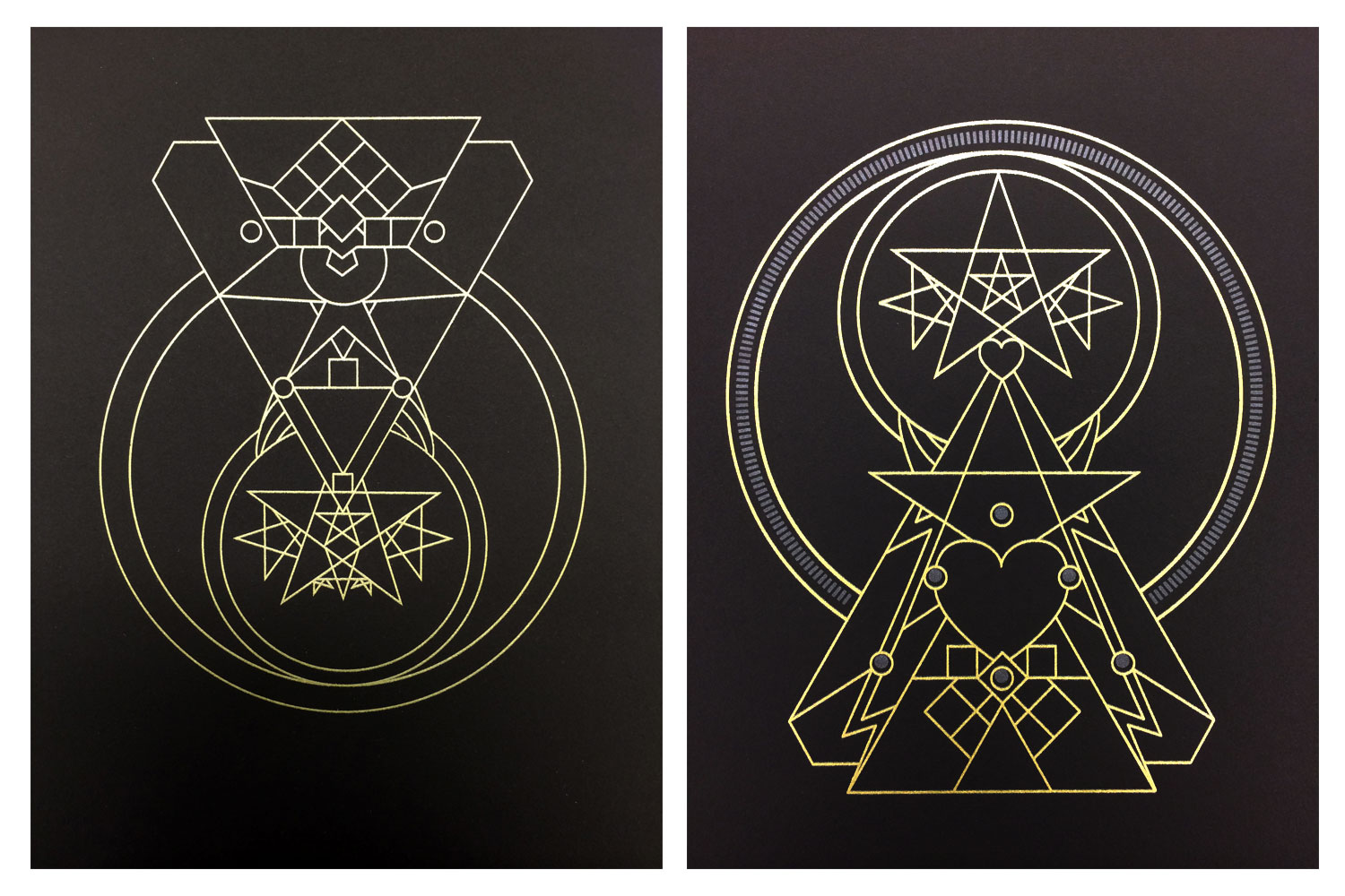 "GUARDIANS  • 9"" x 12"" Silkscreen • Versions V and XII"