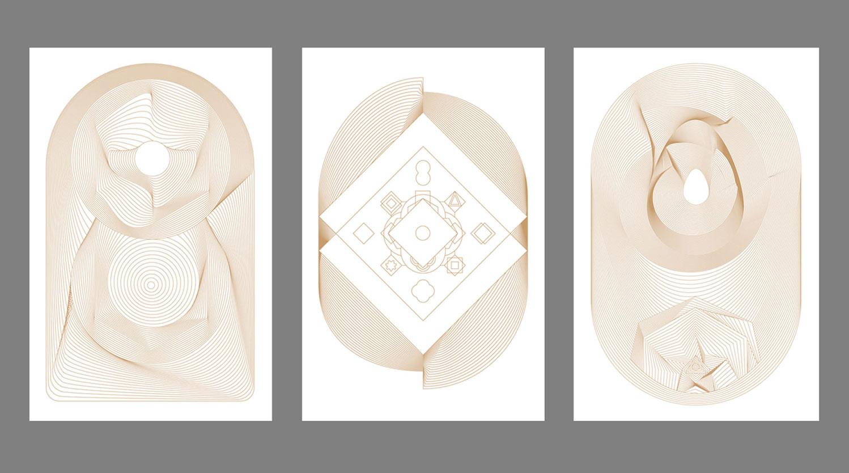 "PORTAL  series • 26"" x 40"" Paper print • Versions I - III"