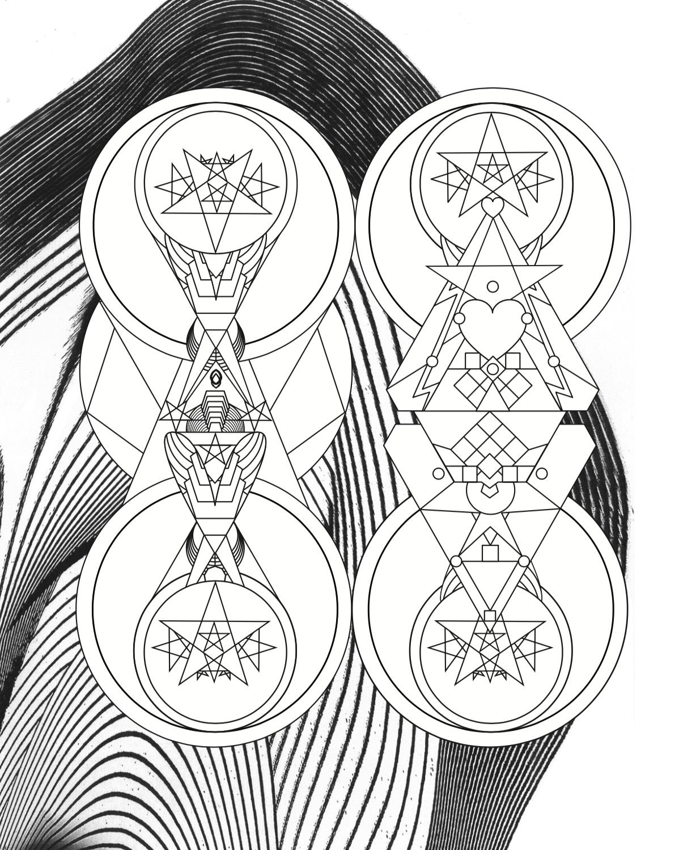 """GUARDIANS  • 9"""" x 12"""" Silkscreen • Version XIII"""