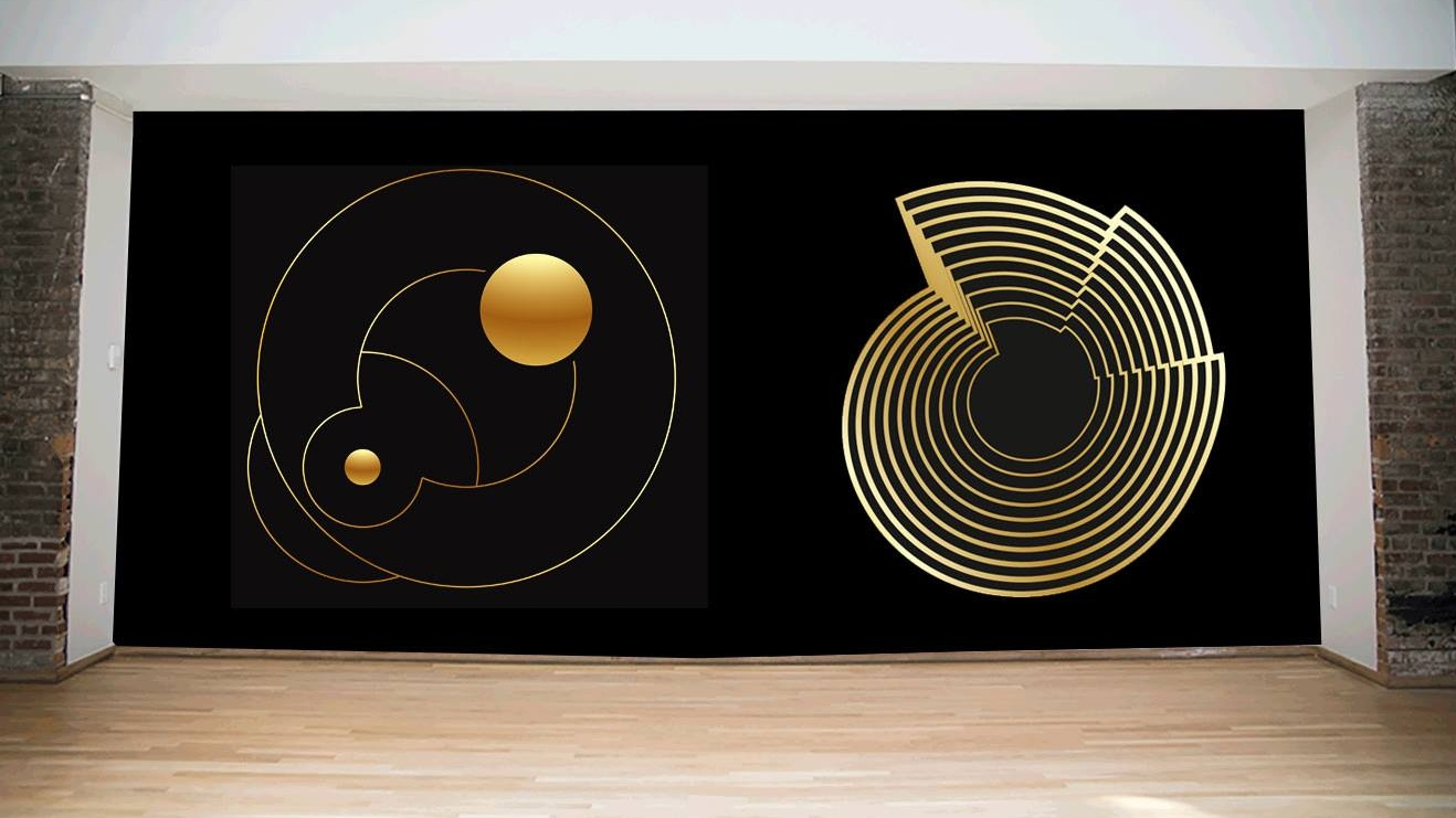 Orbits  • Installation view • Giclee Print • Version I - II