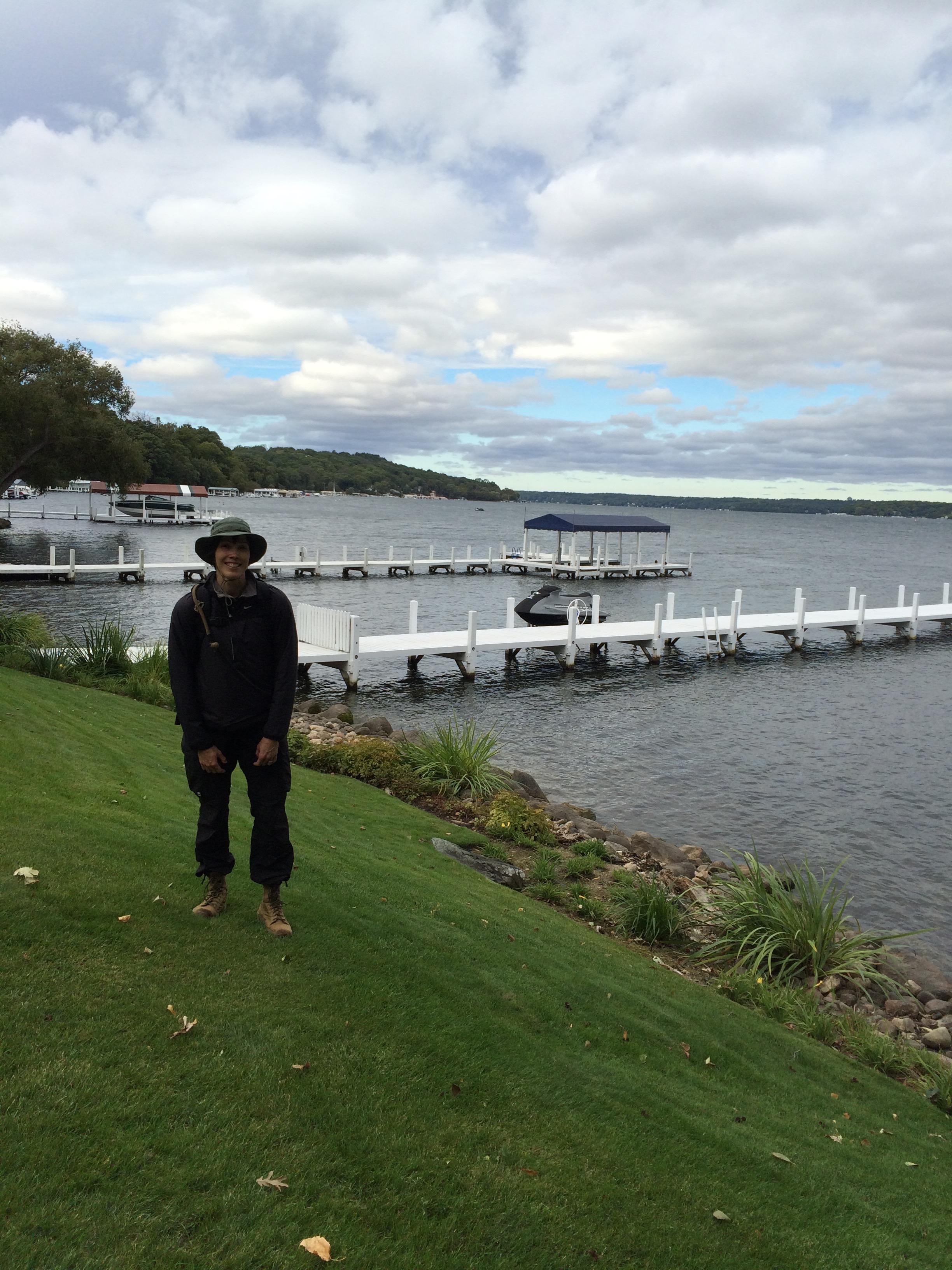Me in front of some random boat docks.