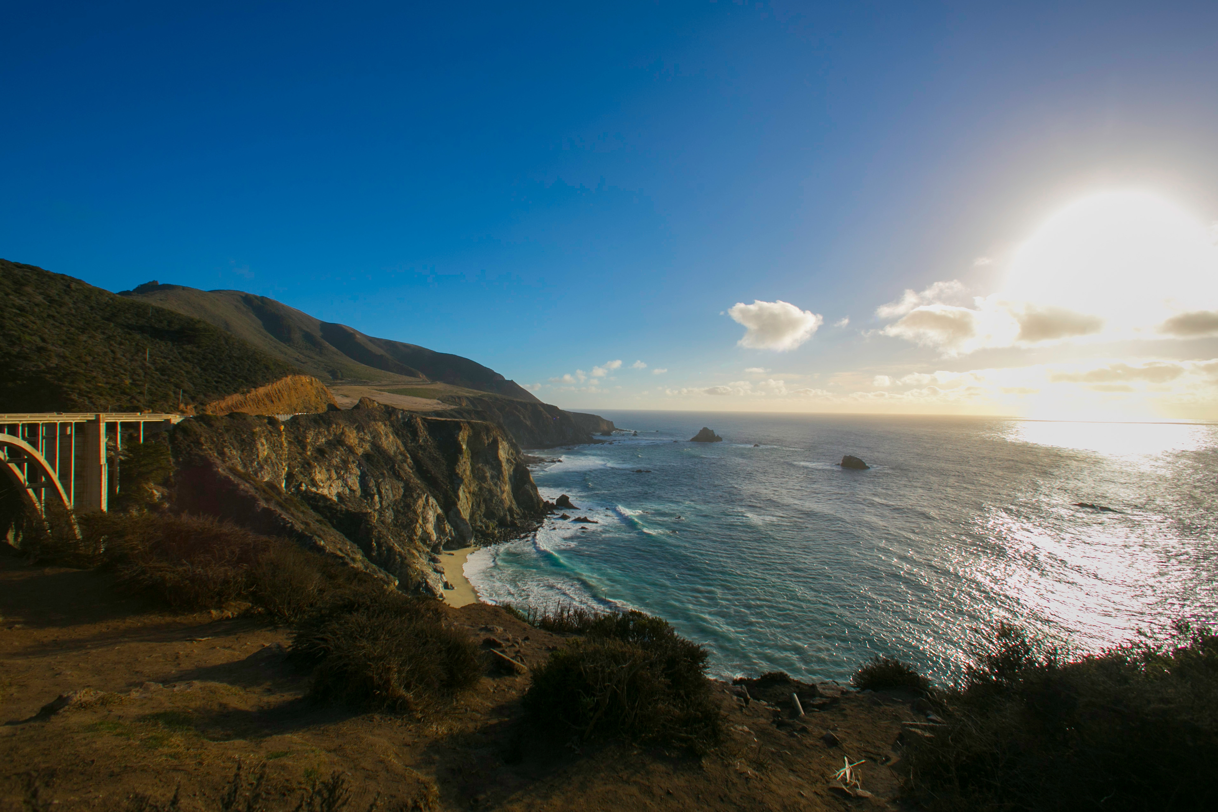"""The scary winding cliff-hugging roads near Big Sur on the northern coast was my favorite portion of the drive!! """"Let's try to go at least 5 miles without stopping"""" """"Ok….but look at this….let's stop here real quick"""" – that is what the entire drive was!"""