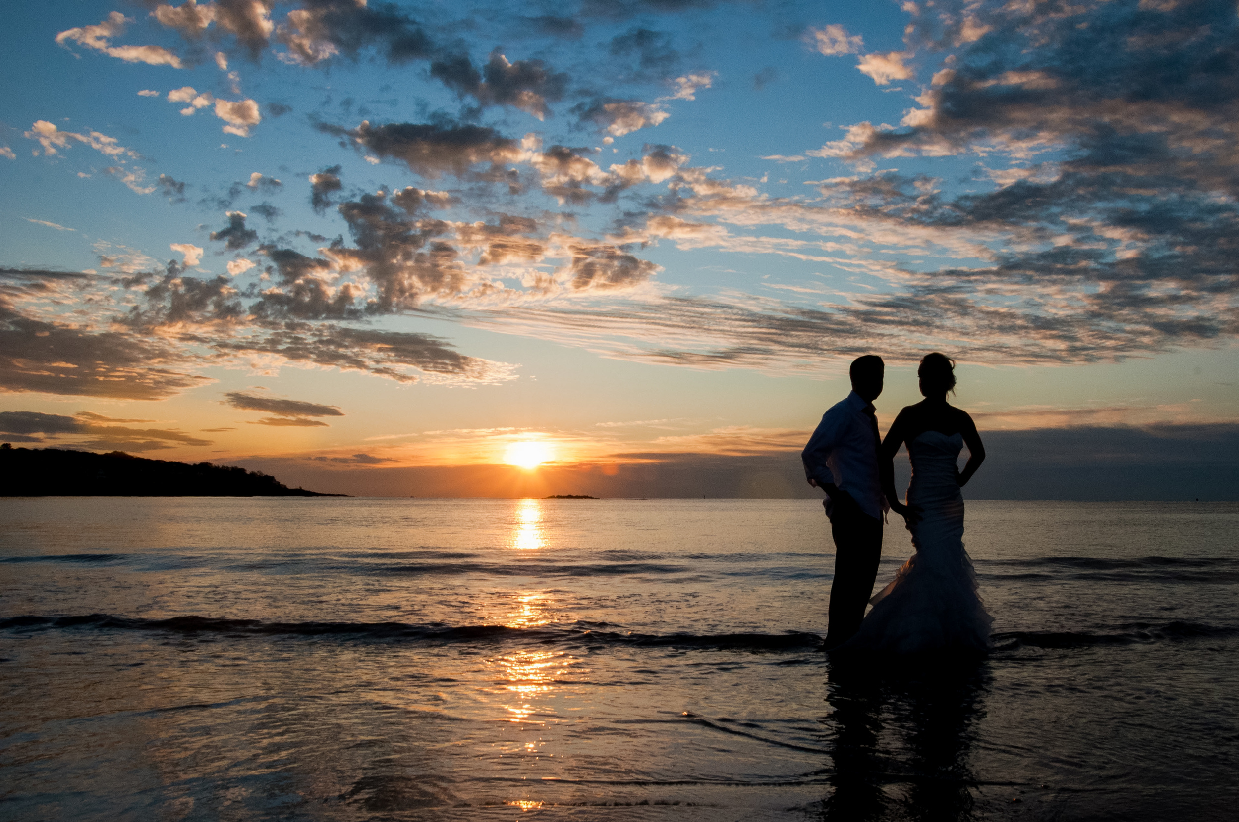 """One of my best friends letting me photograph her """"trash the dress"""" at 6am the morning after her wedding day to support my (at the time) ridiculous dream of being a photographer - September 2011 in York, Maine"""