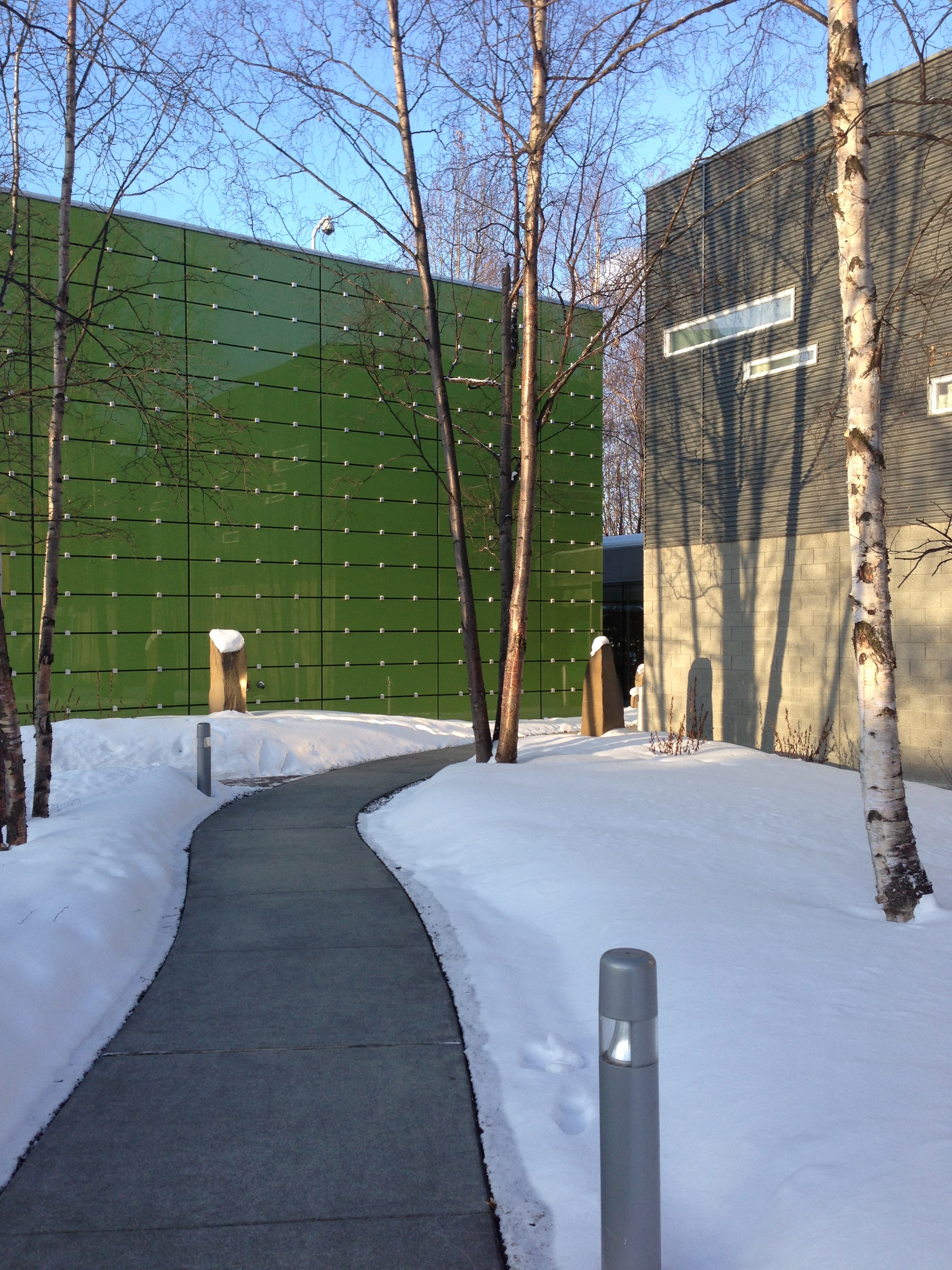 Heading into the BP Energy Center for the Alaska TPC Grantee Conference (April 2013)