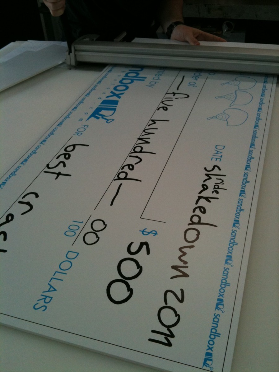 large charity fund raiser cheque