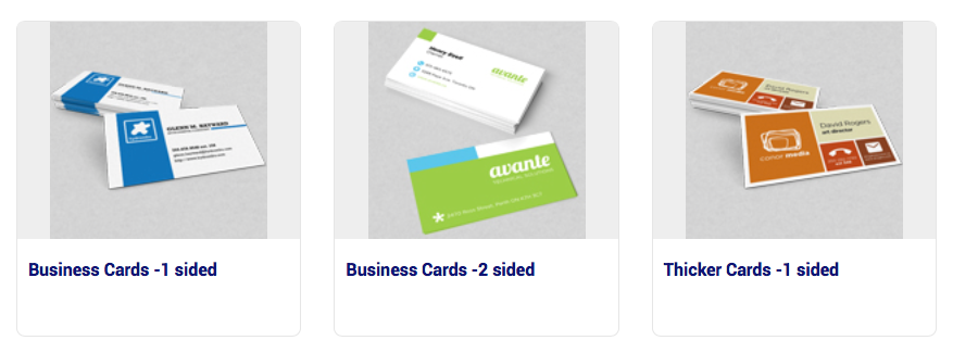 Business Cards 1 sidied - 2 sidded - thick