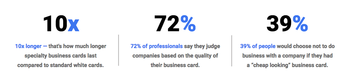 Why Specialty business cards