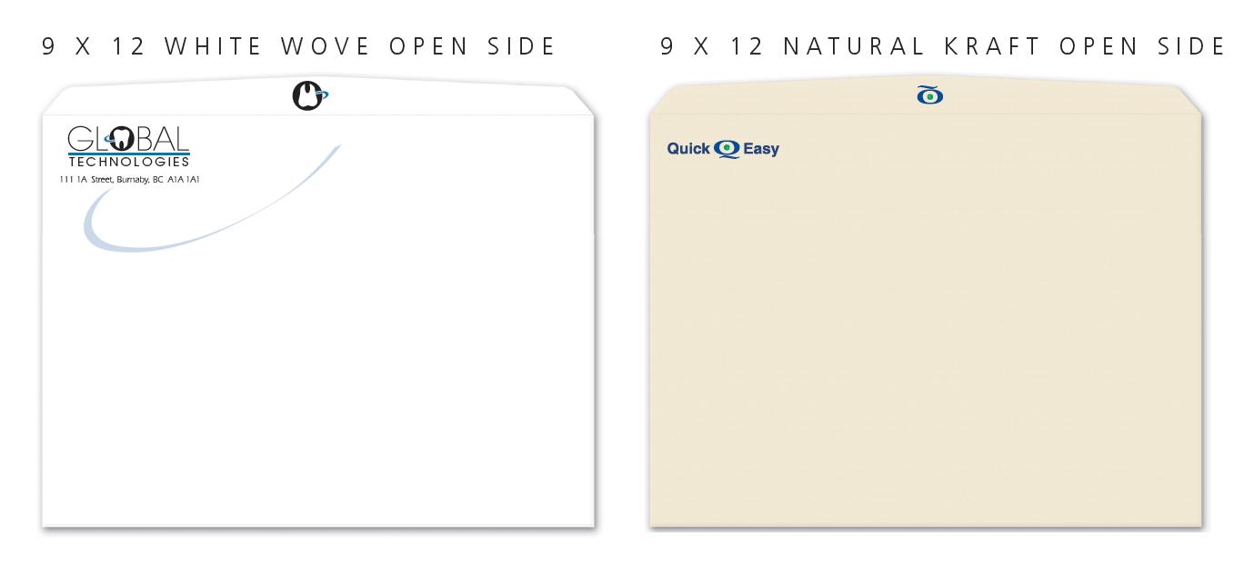 large 9 x 12 Custom print envelopes