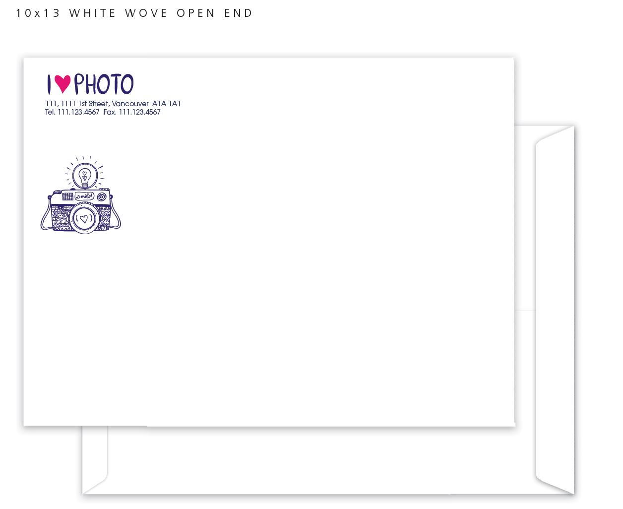 Large 10 x 13 Custom print envelopes
