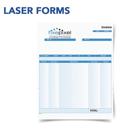 Laser forms