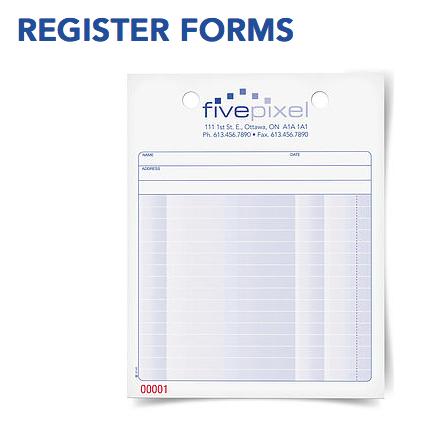 NCR Register forms
