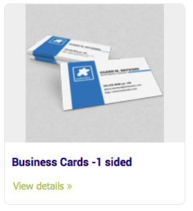 Business Cards 1 Sided