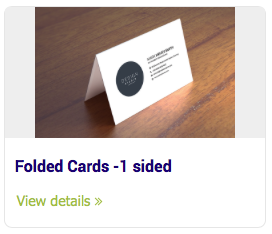 Business Cards - Folded Cards -1 sided