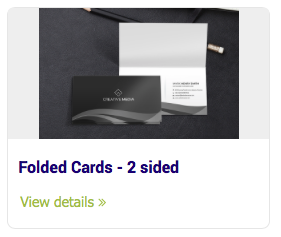 Business Cards - Folded Cards - 2 sided