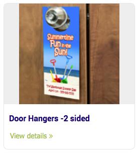 Doorhangers - Door Hangers -2 sided