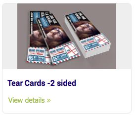 Tear Cards - Tear Cards -2 sided