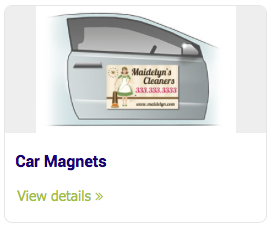 Large Format Signs - Car Magnets