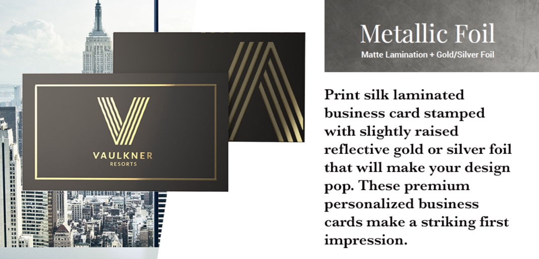 Metallic Foil - Specialty business cards