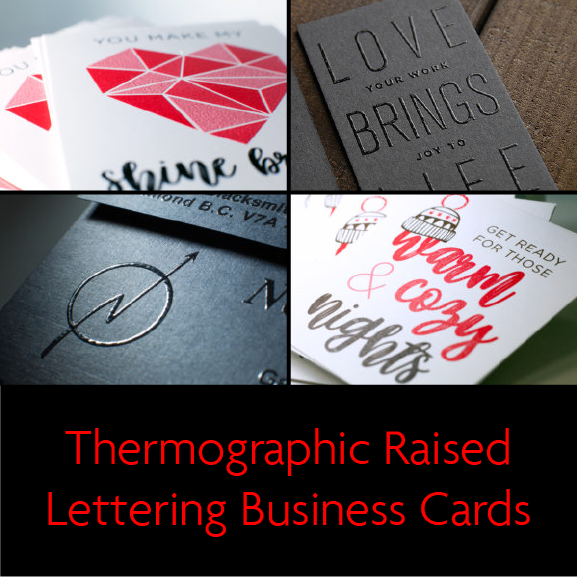 Thermographic business cards