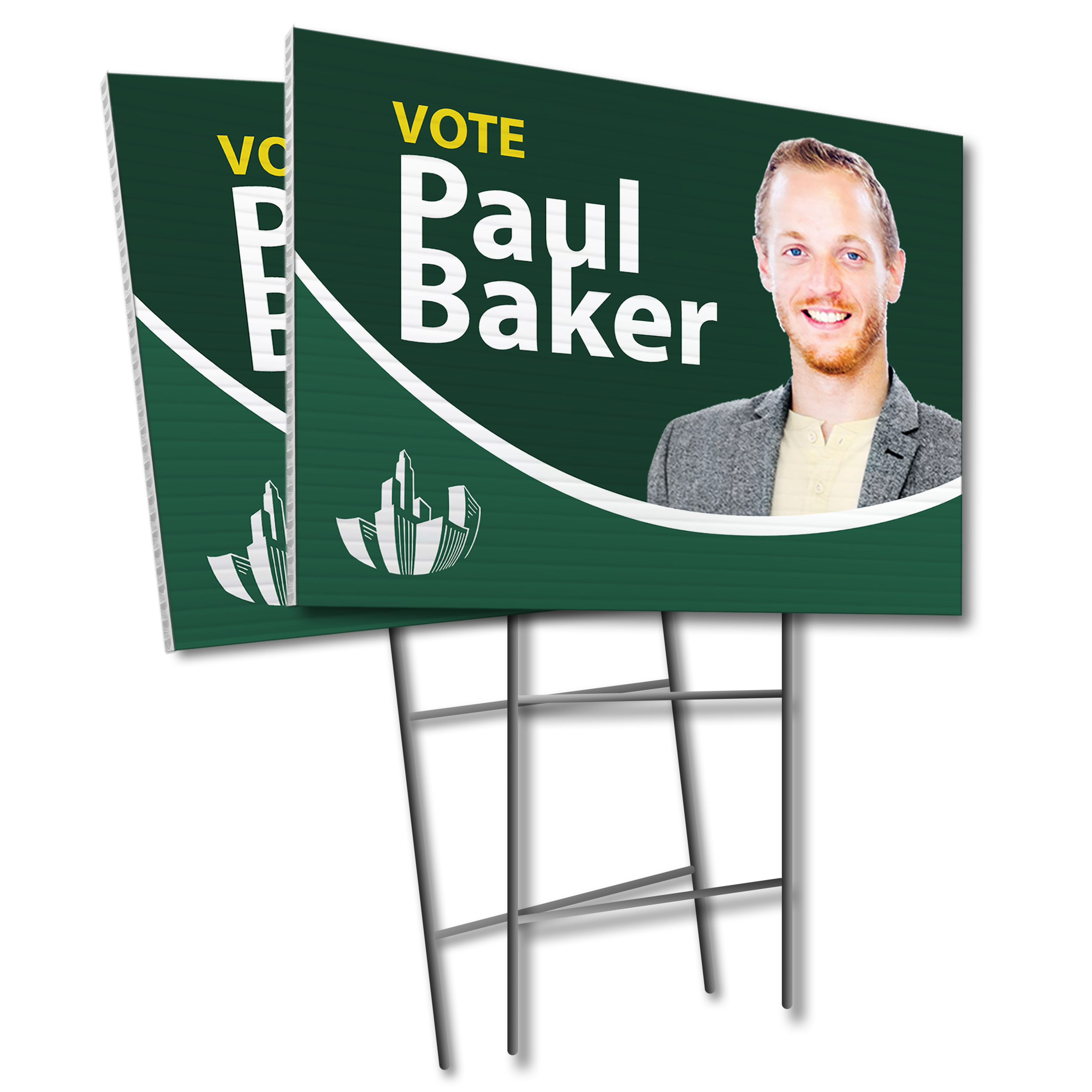 Lawn sign for Election
