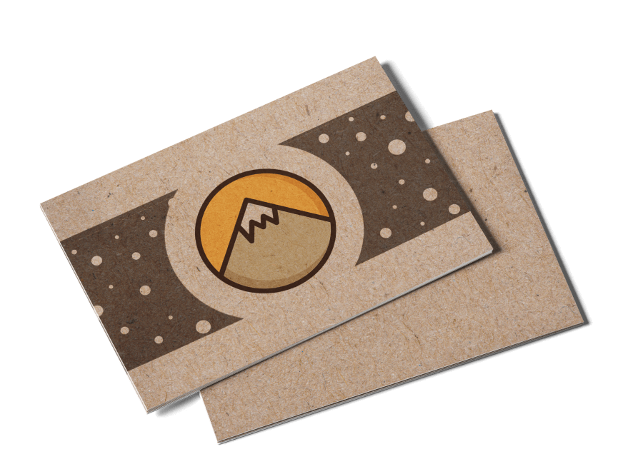 Kraft Postcards - Kraft board postcards are the perfect combination of style and sustainable printing. Print wholesale on 100% recycled stock that's uncoated and natural. It's a favorite among small businesses!