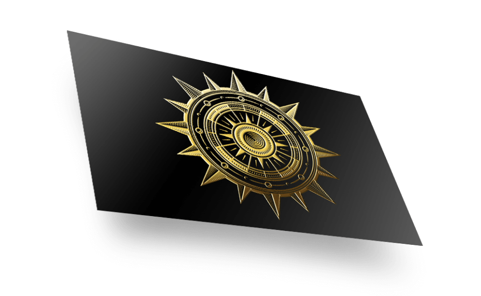 Raised Foil Postcards - Our foil finish printing technique causes the gold or silver metallic foil to rise slightly from the postcard. That's why our metallic foil postcards come with a unique tactile experience that you will love.