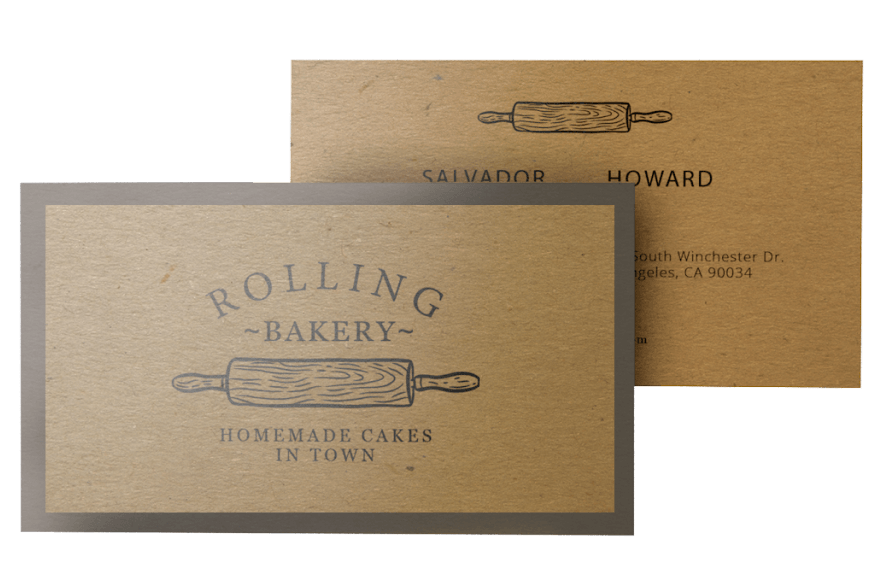 Kraft Paper Printing - Despite the roughness of the stock, printing on kraft paper still produces good coverage. We recommend using dark colors so that it creates a strong contrast on the kraft greeting card.White ink printing on kraft paper is coming soon.