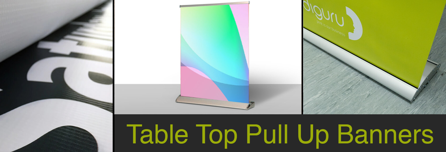 Table Top Pull Up Banner