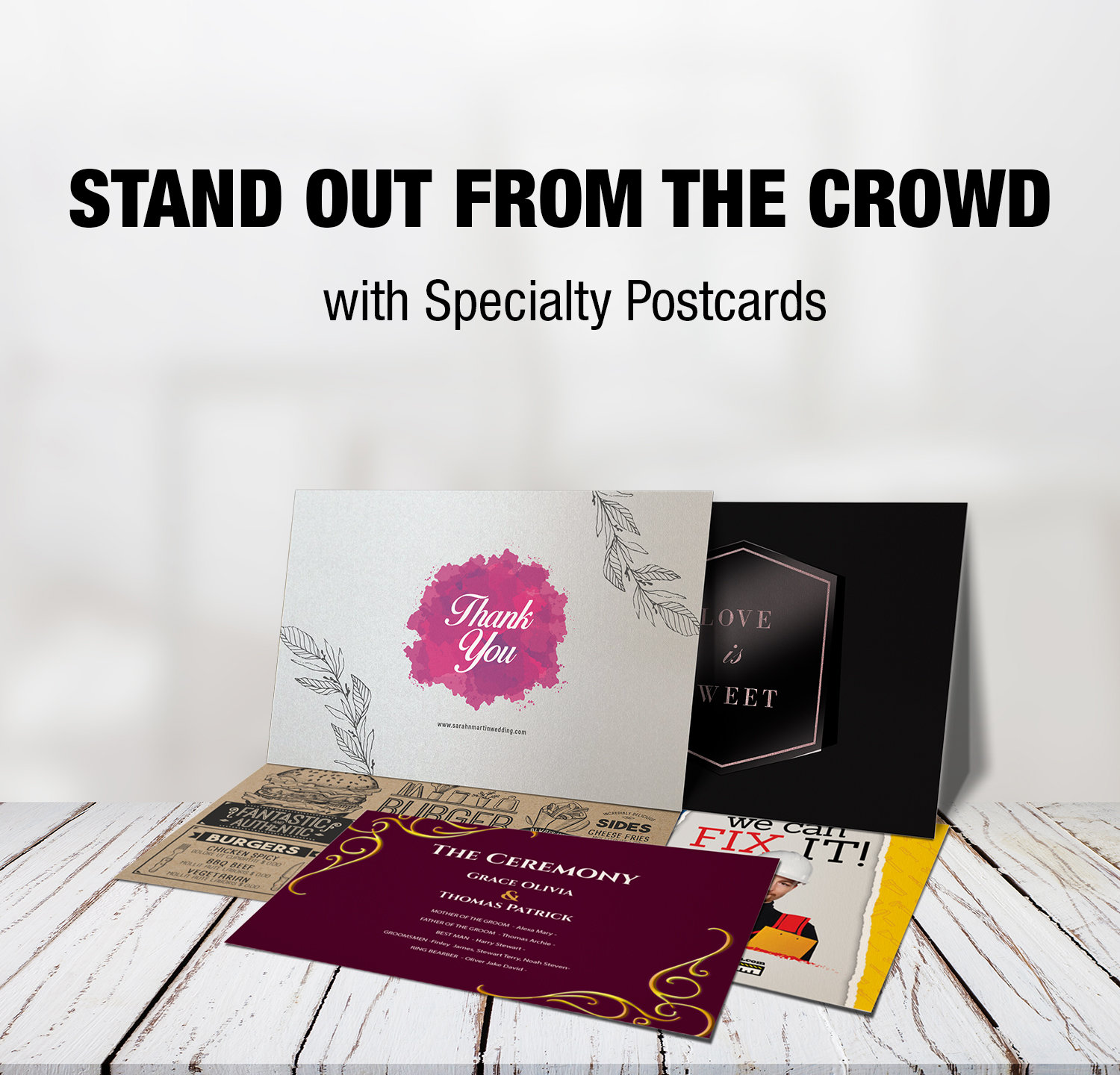 stand out from the crowd with specialty postcards