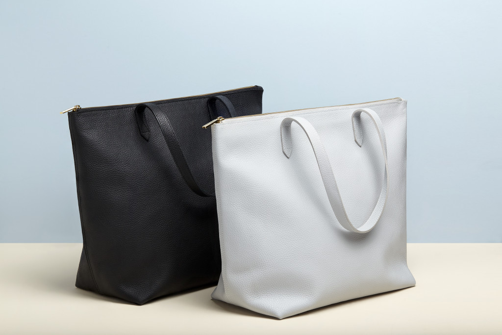 Cuyana Zippered Tote bag  ($195).  It's so hard to find a zippered tote!