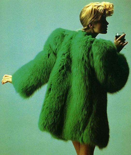 green-fur-crazy-bun
