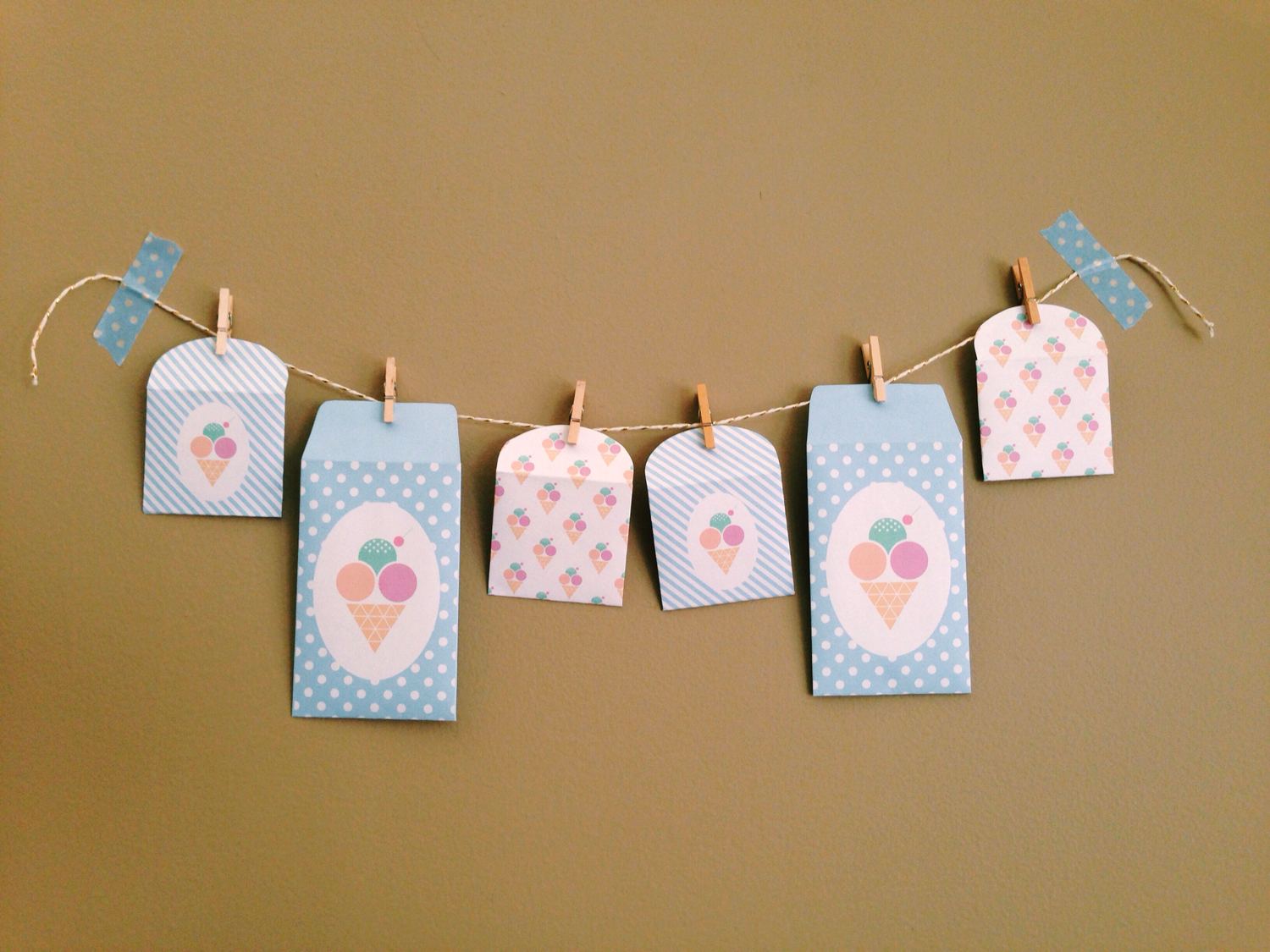 To make your own Ice Cream Envelopes head on over the the  Bird on a Wire Creations Blog  for the DIY :)
