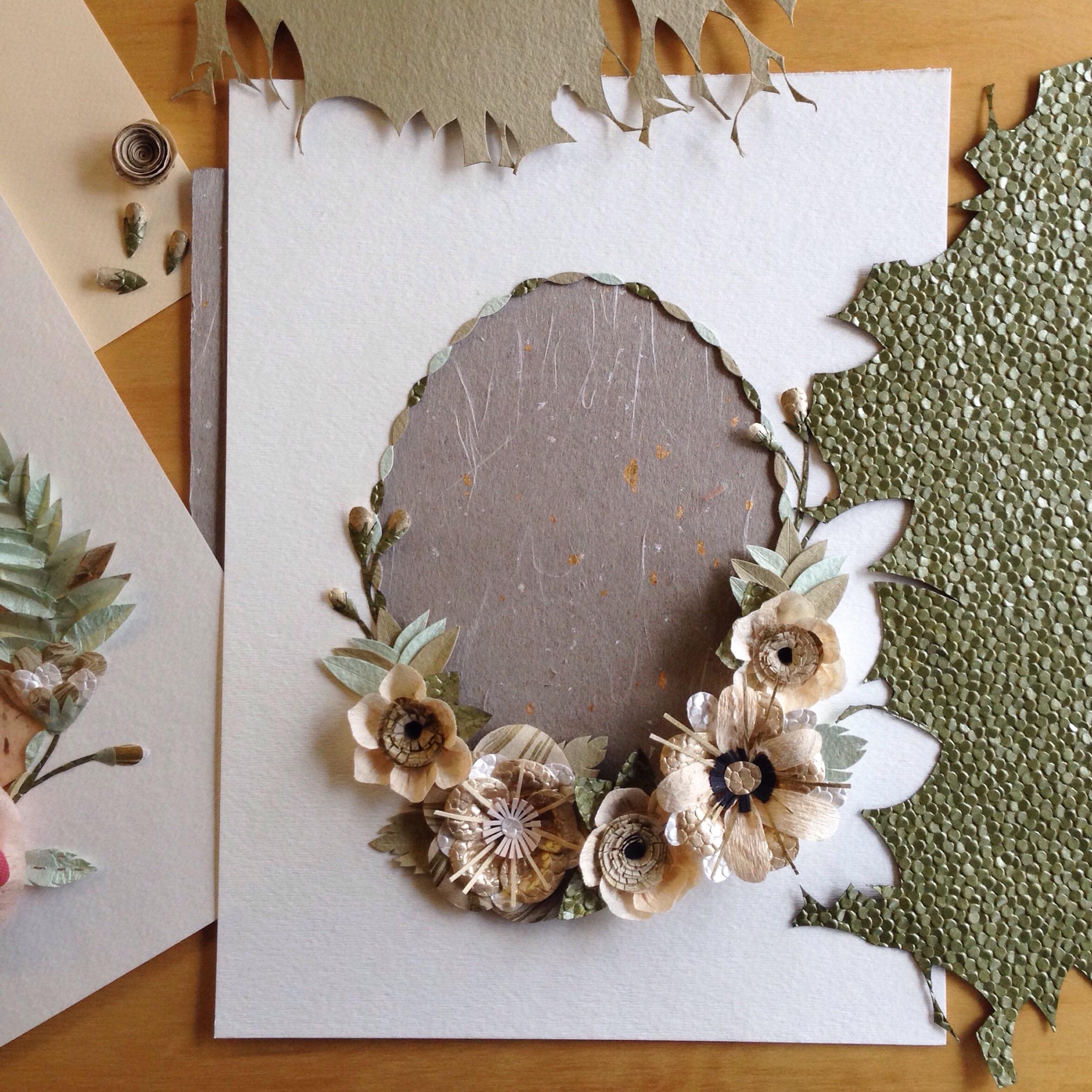 Tara Galuska Paper Flower Border
