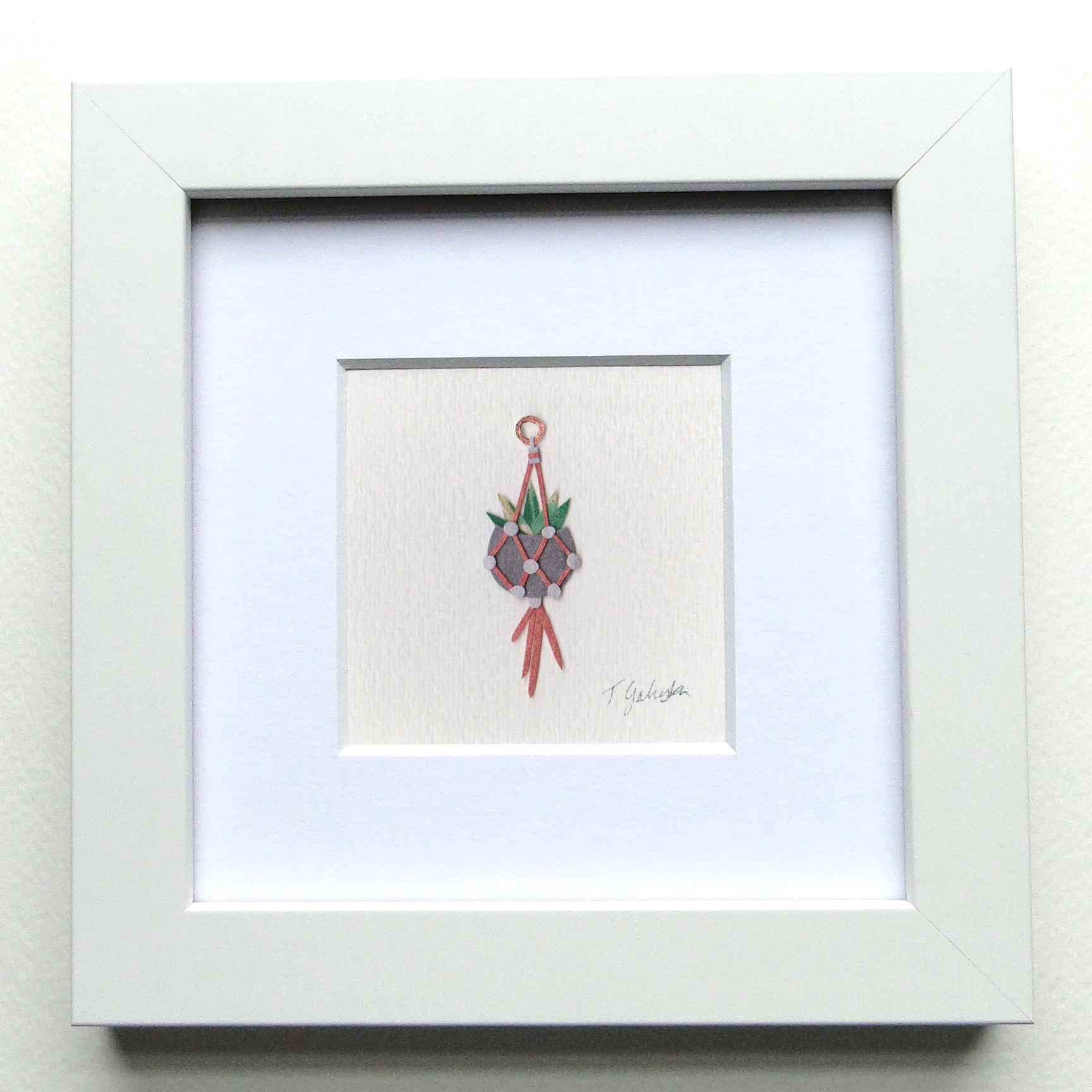 "Sure Why Knot   |   Paper     6"" x 6"" Framed $125"