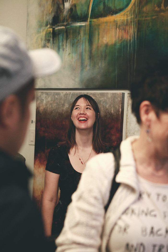 Rove Vancouver Tara Galuska with paintings