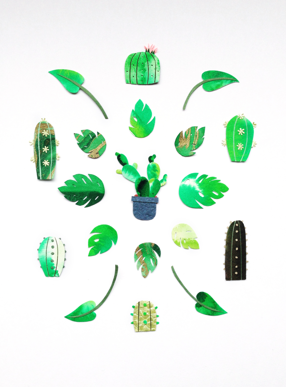 Paper Plant Art Tara Galuska