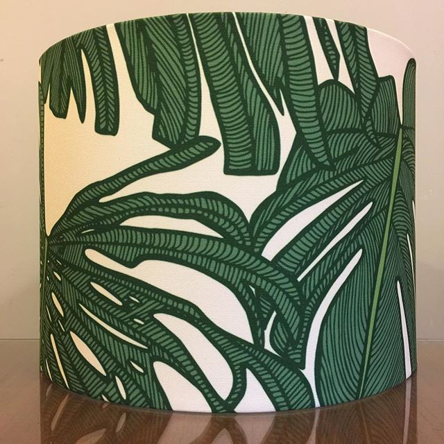 """Custom 16"""" D x 12"""" H lampshade for a customer in @sparkkstudio 'Deliciousness' by @patriciabraune in a custom colourway & scale printed on Frida basecloth . . #lampshades #lampshade #customlampshades #lighting #decor #homedecor #design #interiordesign #textiles #handmade #australianmade #custom #sparkk #patriciabraune #redfern #grahamandgraham"""