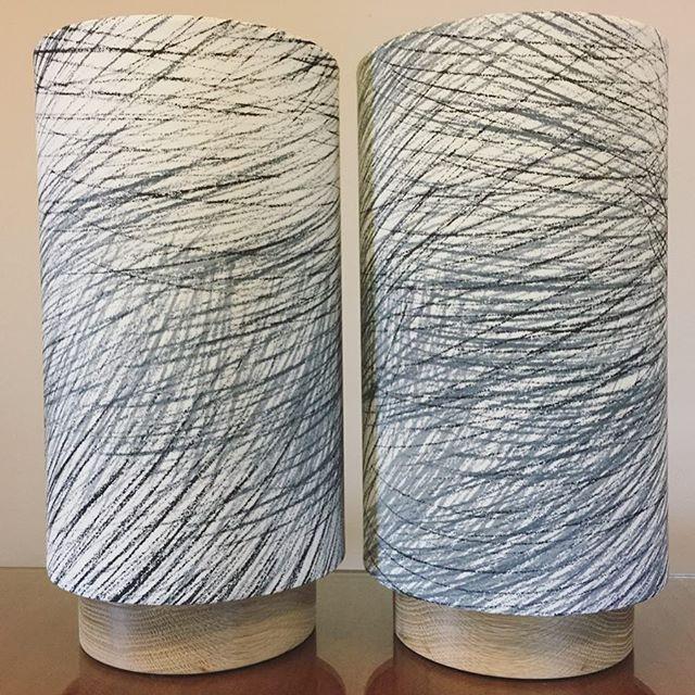 A pair of custom G&GD 'Little Halo' lamps in @marimekkoaustralia 'Lepo' fabric with raw American Oak bases . . #lampshades #lampshade #customlampshades #lighting #decor #homedecor #design #interiordesign #textiles #handmade #australianmade #custom #marimekko #marimekkofabric #americanoak #littlehalolamp #bedsidelamps #redfern #grahamandgraham