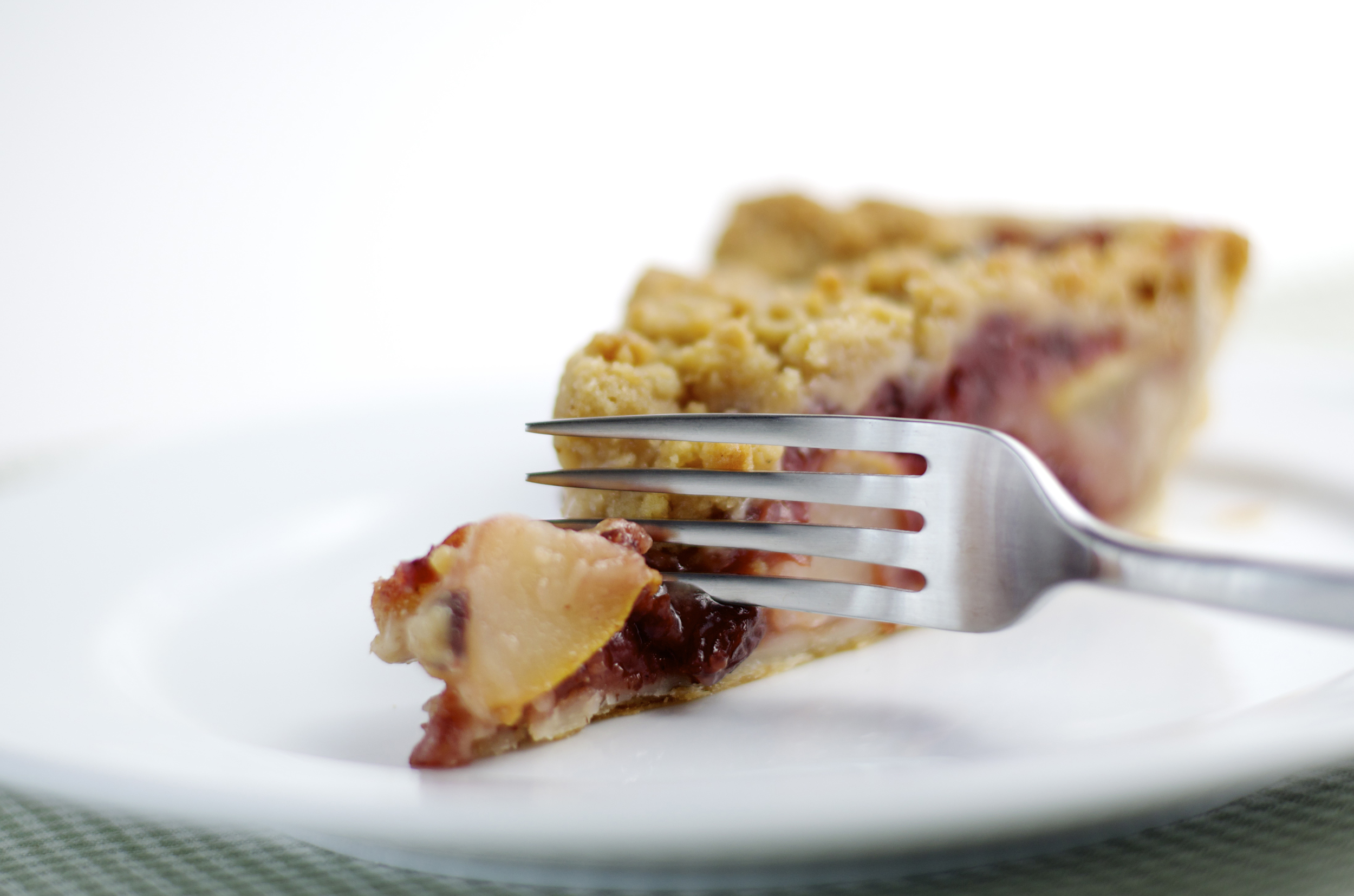 Pear and plum pie