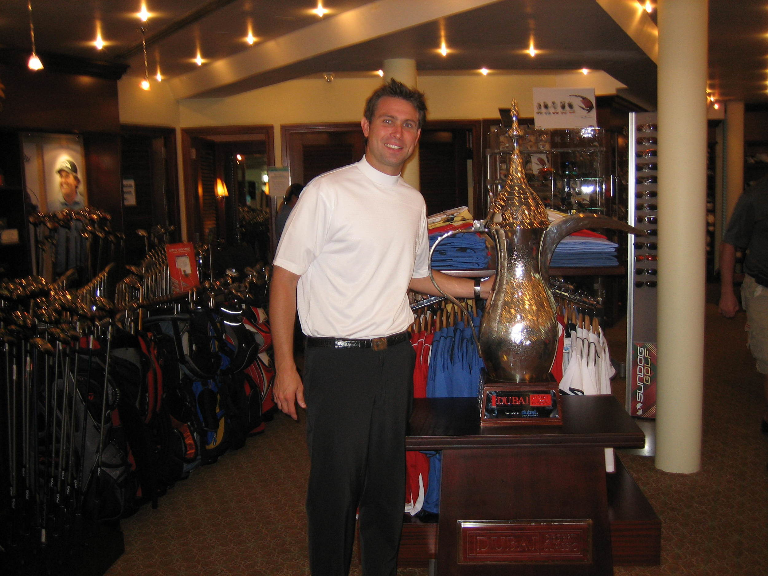 "Walker with ""The Trophy"" in Dubai"
