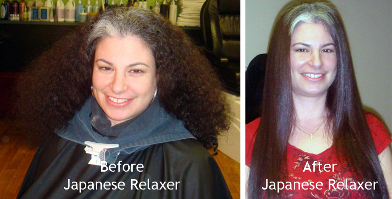 Before/After Japanese Relaxer by Madelyn