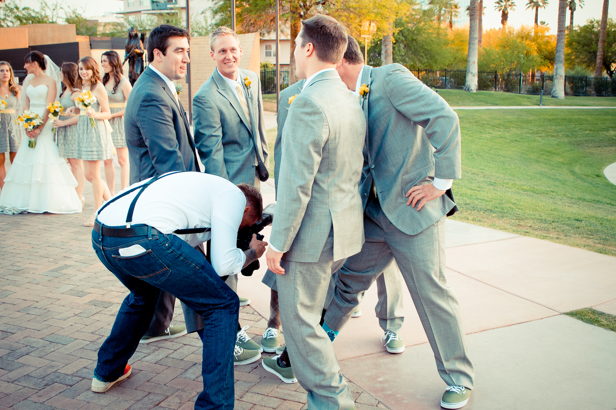 Me getting the token shoe shot haha! Thanks to www.melissawrightphotography.com for the picture!